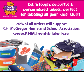 Loveable Labels for R.H. McGregor Students!