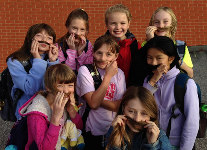The Mustache Club: RHM Students Give Back to our Community!