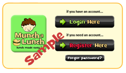 Munch Register Button