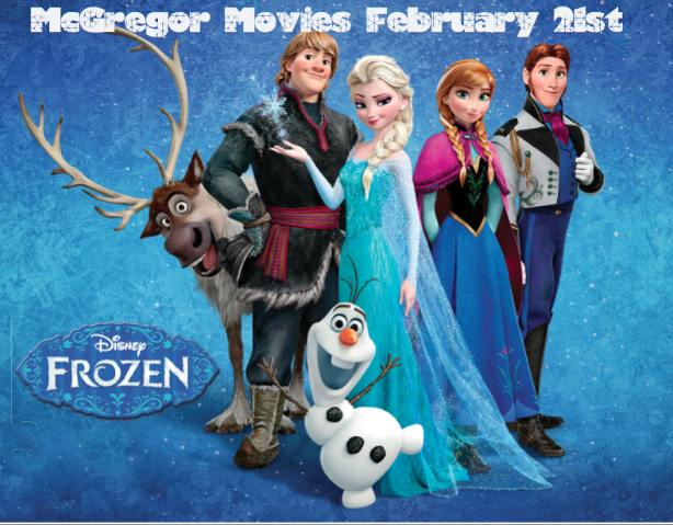RHM will be 1st School in Canada to show FROZEN at Movie Night on February 21st!