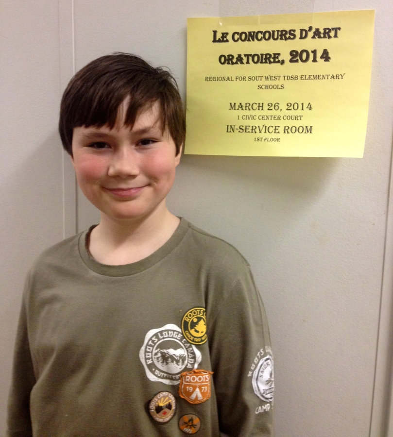 RHM Students Excel at  Le Concours D'Art Oratoire 2014 (French Public Speaking Festival), Regional South West division, TDSB schools