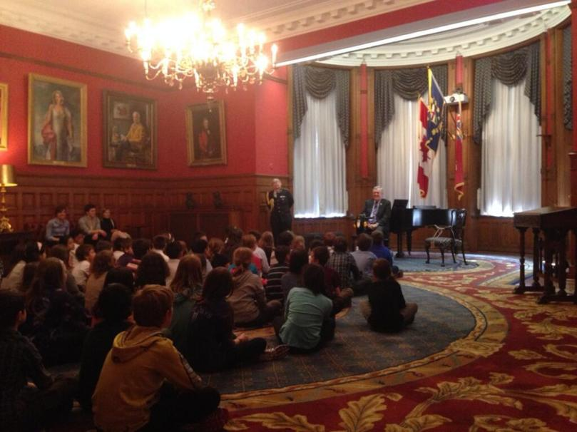 RHM Grade 5s get private audience with Ontario Lieutenant Governor, David Onley