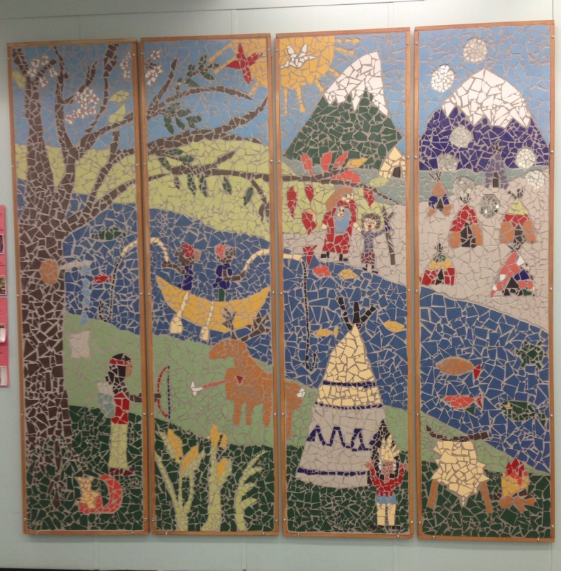 The Fabulous Mosaic on the 2nd Floor! Made by RHM Students