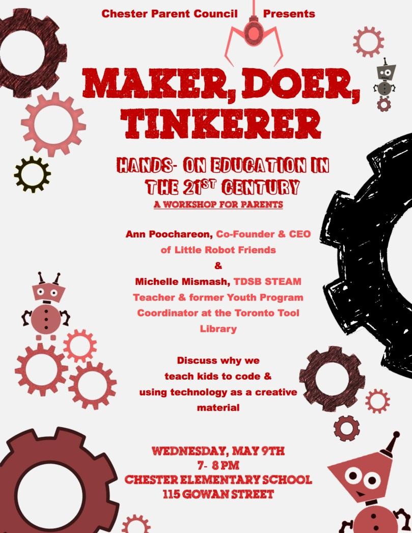 Maker, Doer, Tinkerer Poster